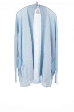 Paychi Guh | Open Cardigan, Lt Blue, 100% Refined Cashmere