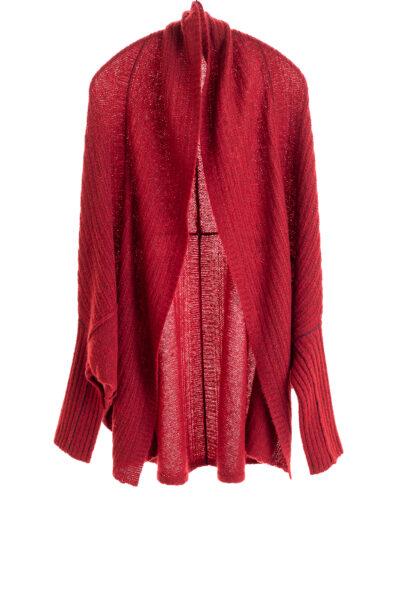 Paychi Guh | Dreamy Cocoon Cardigan, Garnet, 100% Dreamy Cashmere