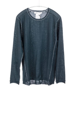 Paychi Guh | L/S Baby Tee, Dark Teal, 100% Worsted Cashmere