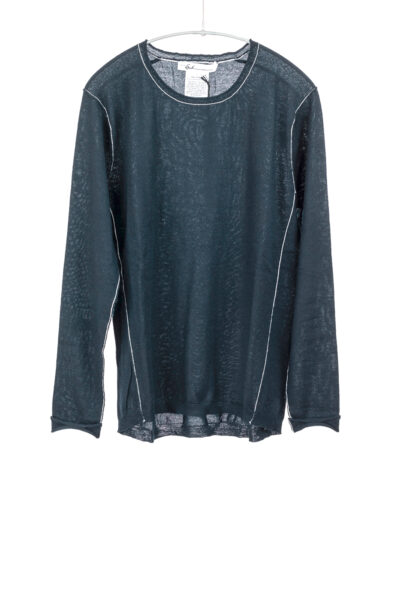 Paychi Guh   L/S Baby Tee, Dark Teal, 100% Worsted Cashmere