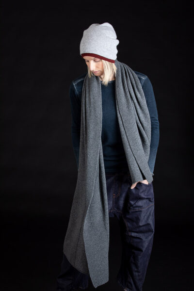 Paychi Guh | Textured Scarf & Slouchy Beanie, 100% Cashmere