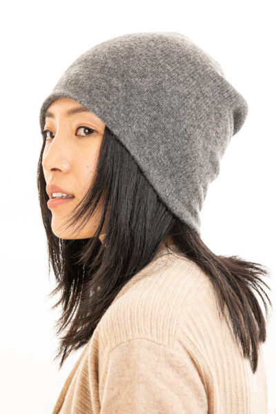 Paychi Guh | Slouchy Beanie, Thunder, 100% Cashmere