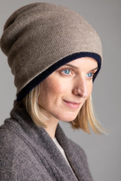 Paychi Guh | Slouchy Beanie, Toast, 100% Cashmere