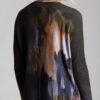 Paychi Guh | Splash Print Crew, Army/Spice, 100% Cashmere