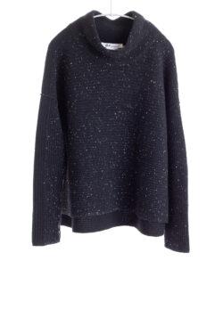 Paychi Guh | Speckled Mock, Black/Black, 100% Cashmere