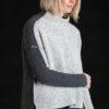Paychi Guh | Speckled Mock, Grey/Thunder, 100% Cashmere
