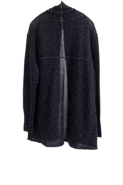 Paychi Guh | Speckled Cardigan, Black Speckle, 100% Cashmere