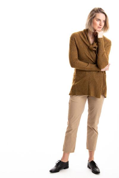 Paychi Guh | Speckled Cardigan, Dijon Speckle, 100% Cashmere