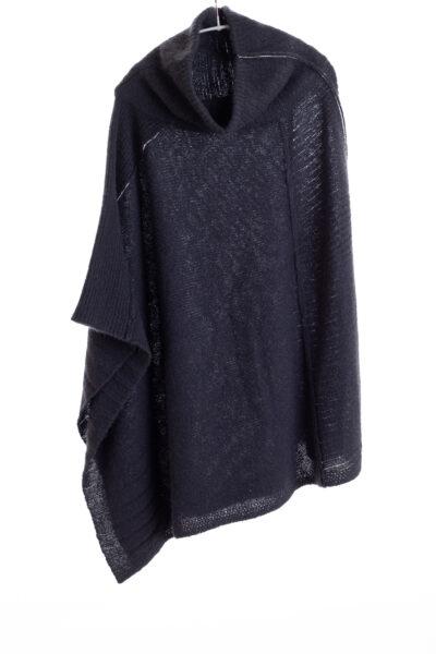 Paychi Guh   Dreamy Poncho, Black, 100% Dreamy Cashmere