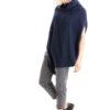 Paychi Guh | Dreamy Poncho, Navy, 100% Dreamy Cashmere