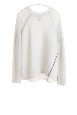 Paychi Guh | Dreamy Cable Crew, Mist, 100% Dreamy Cashmere