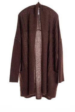 Paychi Guh | Dreamy Long Cardigan, Americano, 100% Dreamy Cashmere