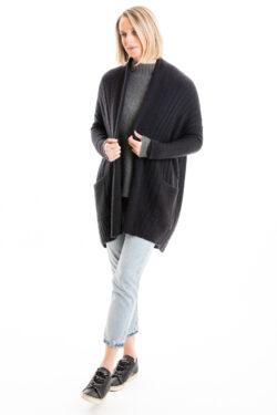 Paychi Guh | Dreamy Long Cardigan, Black, 100% Dreamy Cashmere