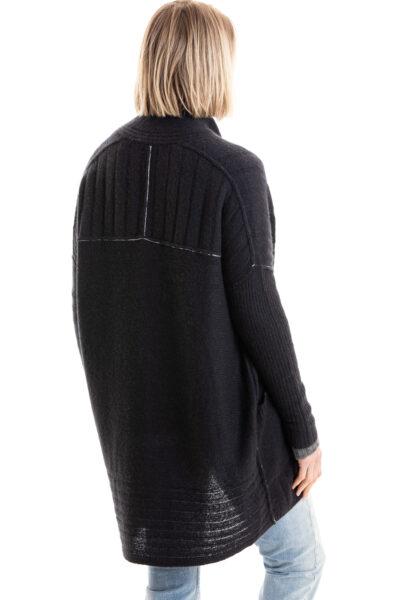 Paychi Guh   Dreamy Long Cardigan, Black, 100% Dreamy Cashmere