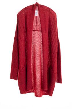 Paychi Guh | Dreamy Long Cardigan, Garnet, 100% Dreamy Cashmere