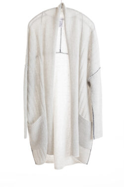 Paychi Guh | Dreamy Long Cardigan, Mist, 100% Dreamy Cashmere