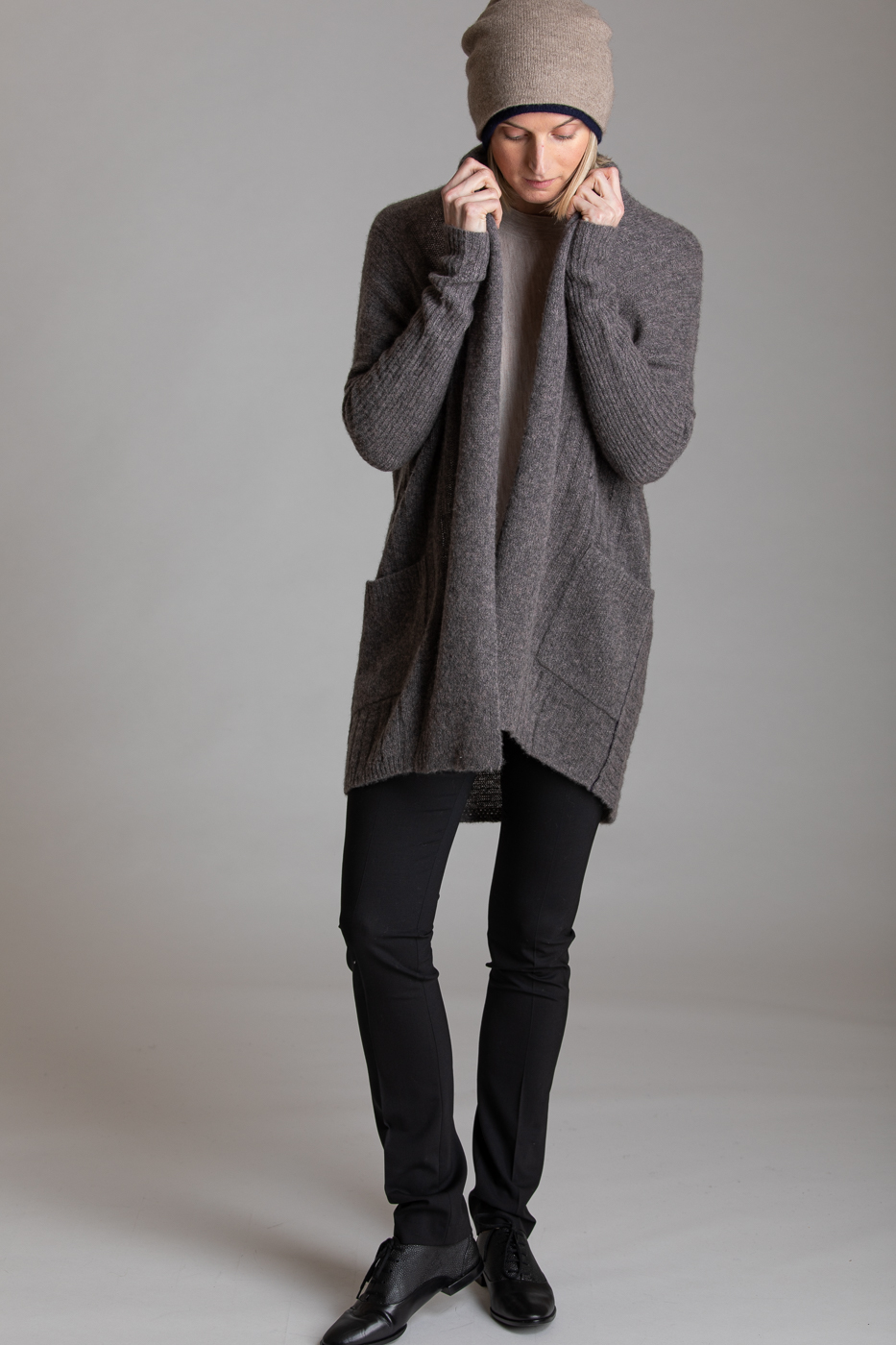 Paychi Guh | Dreamy Long Cardigan, Musk, 100% Dreamy Cashmere