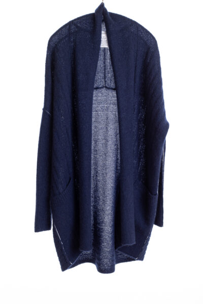 Paychi Guh | Dreamy Long Cardigan, Navy, 100% Dreamy Cashmere