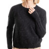 Paychi Guh | Speckled Crew, Black Speckle, 100% Cashmere