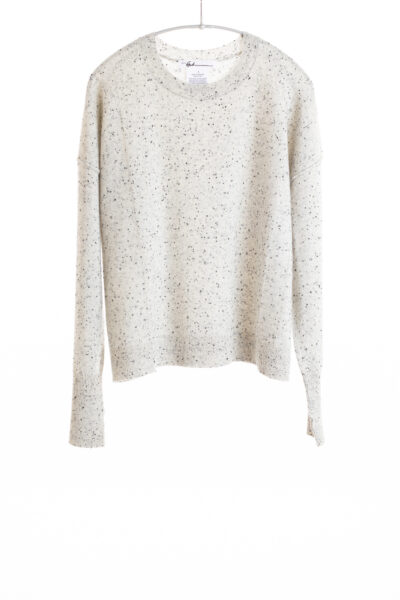 Paychi Guh | Speckled Crew, Grey Speckle, 100% Cashmere