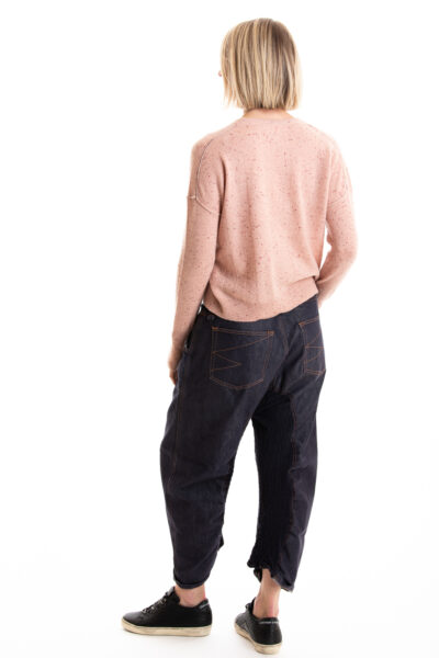 Paychi Guh | Speckled Crew, Rose Speckle, 100% Cashmere