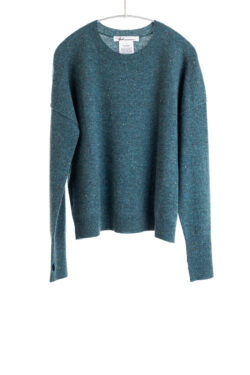 Paychi Guh   Speckled Crew, Teal Speckle, 100% Cashmere