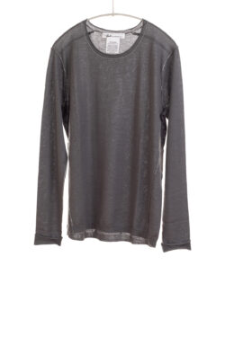 Paychi Guh | L/S Baby Tee, Pale Basalt, 100% Worsted Cashmere