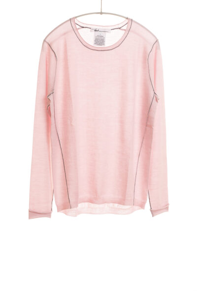 Paychi Guh | L/S Baby Tee, Pale Pink, 100% Worsted Cashmere