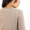 Paychi Guh | L/S Baby Tee, Walnut, 100% Worsted Cashmere