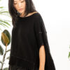 Paychi Guh   Popover, Black, Cashmere Silk