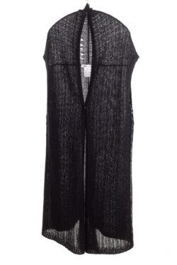 Paychi Guh | Vest, Black, Cashmere Silk
