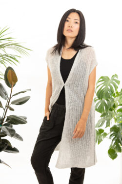 Paychi Guh | Vest, Mist, Cashmere Silk