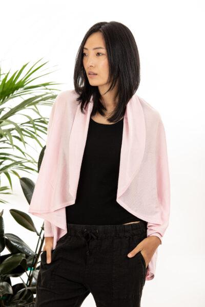 Paychi Guh   Wrap Cardigan, Fluff, Superfine 70% Worsted Cashmere 30% Silk