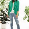 Paychi Guh | Wrap Cardigan, Green, Superfine 70% Worsted Cashmere 30% Silk