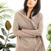 Paychi Guh | Wrap Cardigan, Latte, Superfine 70% Worsted Cashmere 30% Silk