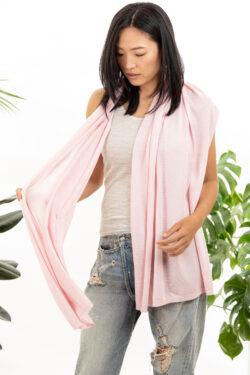 Paychi Guh | Button Wrap, Fluff, Superfine 70% Worsted Cashmere 30% Silk