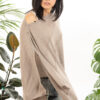 Paychi Guh | Button Wrap, Latte, Superfine 70% Worsted Cashmere 30% Silk