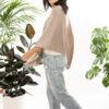 Paychi Guh   Button Wrap, Latte, Superfine 70% Worsted Cashmere 30% Silk