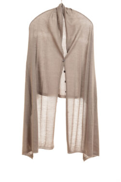 Paychi Guh | Button Wrap, Latte, Superfine 70% Worsted Cashmere 30% Silk