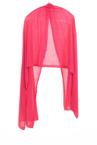 Paychi Guh | Button Wrap, Lipstick, Superfine 70% Worsted Cashmere 30% Silk