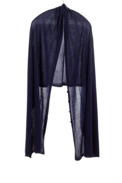 Paychi Guh | Button Wrap, Navy, Superfine 70% Worsted Cashmere 30% Silk