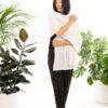 Paychi Guh   Button Wrap, Snow, Superfine 70% Worsted Cashmere 30% Silk