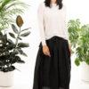Paychi Guh | L/S Textured Crew, Snow, Superfine 70% Worsted Cashmere 30% Silk