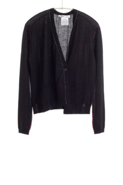 Paychi Guh | Asymmetrical Cardigan, Black, 100% Worsted Cashmere