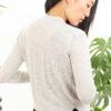 Paychi Guh | Asymmetrical Cardigan, Dove Grey, 100% Worsted Cashmere