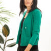 Paychi Guh | Asymmetrical Cardigan, Lush Green, 100% Worsted Cashmere