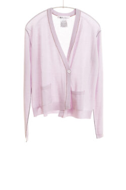 Paychi Guh | Asymmetrical Cardigan, Pale Lavender, 100% Worsted Cashmere