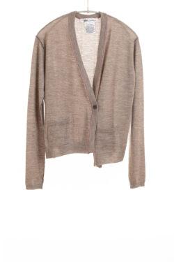 Paychi Guh | Asymmetrical Cardigan, Walnut, 100% Worsted Cashmere