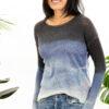 Paychi Guh | Watercolor Crew, Blue, 100% Premium Cashmere