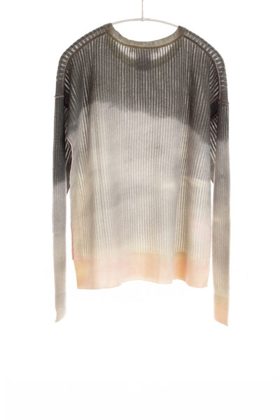Paychi Guh | Watercolor Crew, Grey, 100% Premium Cashmere